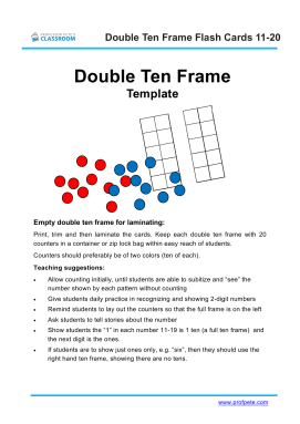 Professor Petes Classroom Template Double Ten Frame Blank