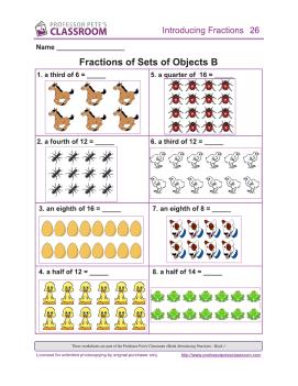 ... Fractions 1: Fraction of Set | Professor Pete's Classroom