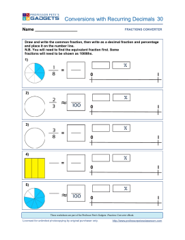 professor pete s classroom fraction conversions recurring or