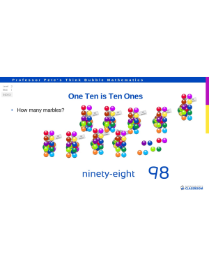 5a85fabbc4 Tens and Ones explored with a focus on regrouping for example 6 Tens to 4 Tens  and 26 Ones. Number expanders used for some examples.