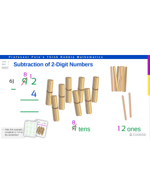 Professor Pete's Classroom » Subtraction of 2-Digit Numbers with