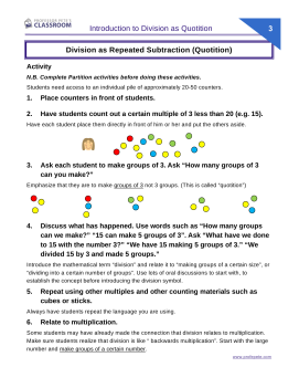 math worksheet : division using repeated subtraction worksheets  the best and most  : Division As Repeated Subtraction Worksheet