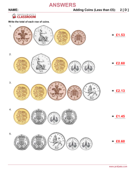 Professor Pete's Classroom » Money: UK Coins that Add to ...