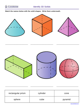 3D Solid Shapes Worksheets for all | Download and Share Worksheets ...