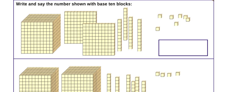 Representing Decimals With Base Ten Blocks Worksheets