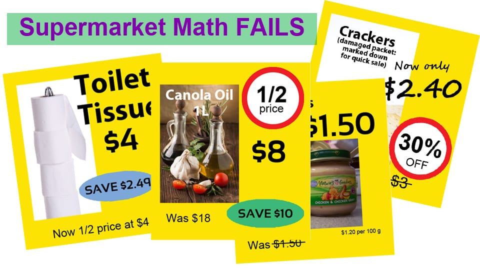 K-6 Math in the News: Shopping Math Fail