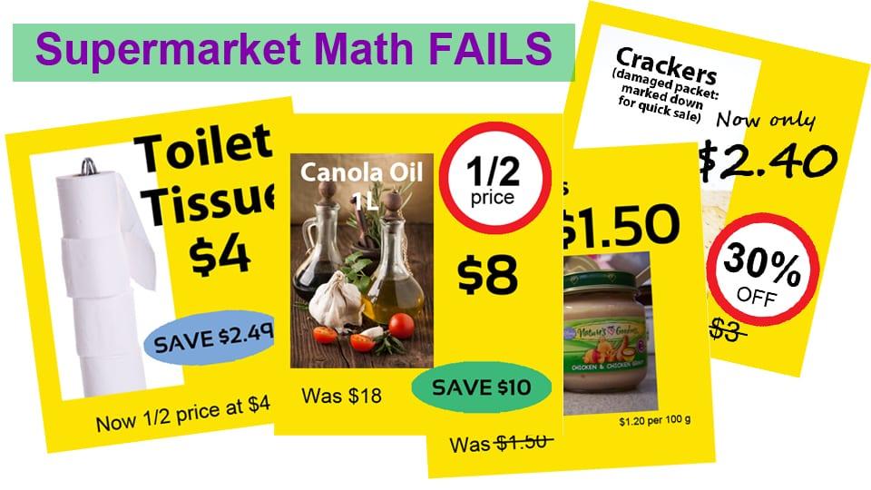 K-6 Math in the News: Shopping Math Fail